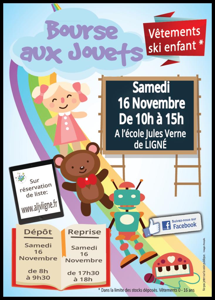 Affiche Bourse aux jouets 16 novembre 2019